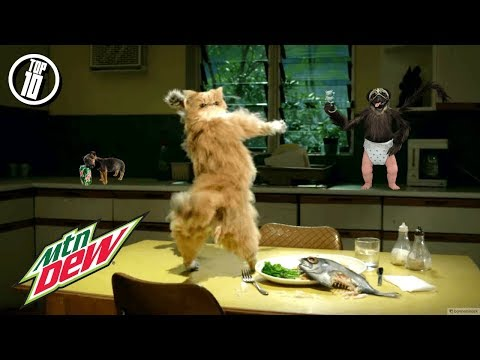 TOP 10 FUNNIEST MOUNTAIN DEW COMMERCIALS Ever Made (Best Mtn Dew Super Bowl Ads 2018)