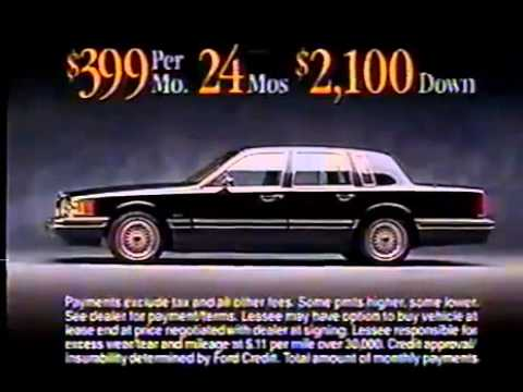 1995 Lincoln Town Car Commercial