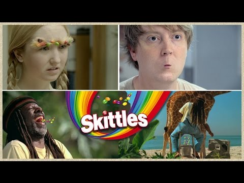 Top 10 Funniest Skittles Taste The Rainbow Commercials Ever
